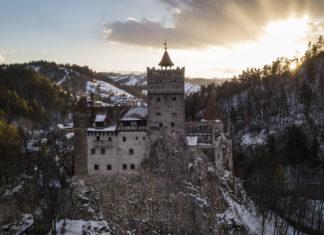 Romania Bran Draculas Castle Sunset Halloween Party