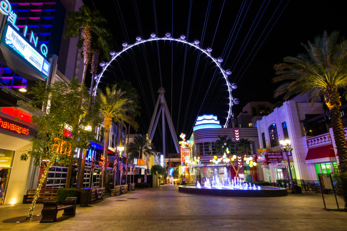 Fly LINQ zipline Las Vegas Strip