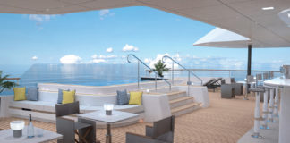 The Outdoor Grill Bar on board a Ritz-Carlton yacht.