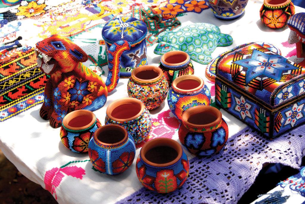 Huichol handicrafts in Riviera Nayarit.