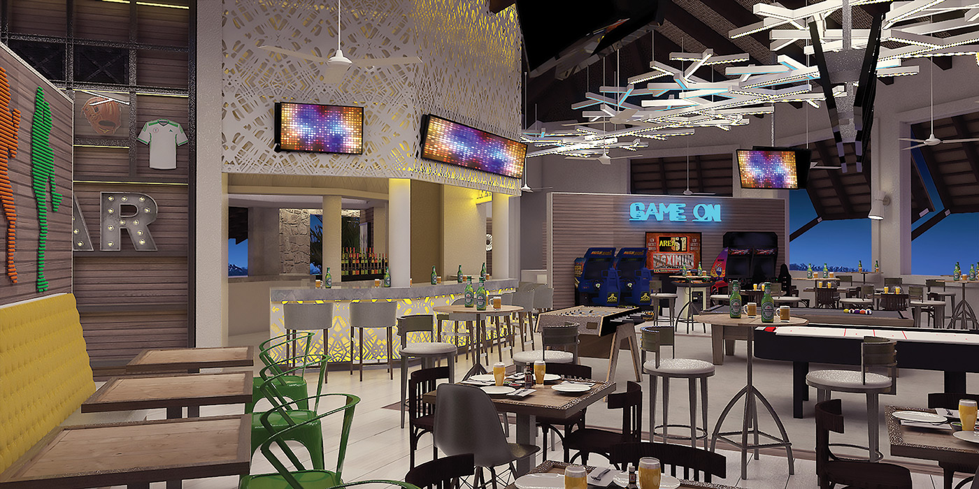 Grand Memories Punta Cana will be able to dine at Social Bar & Arcade.