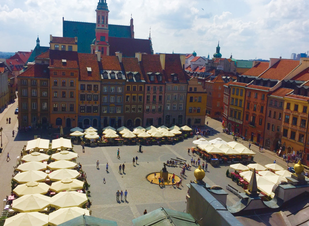 The main market square in Warsaw's Old Town (Paloma Villaverde de Rico)