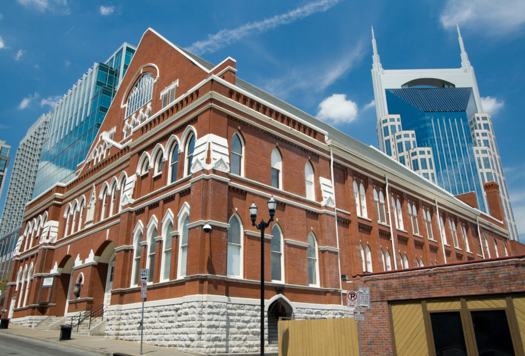 Ryman Auditorium in Nashville, to which Globus offers tours.