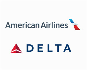 American Airlines and Delta Airlines