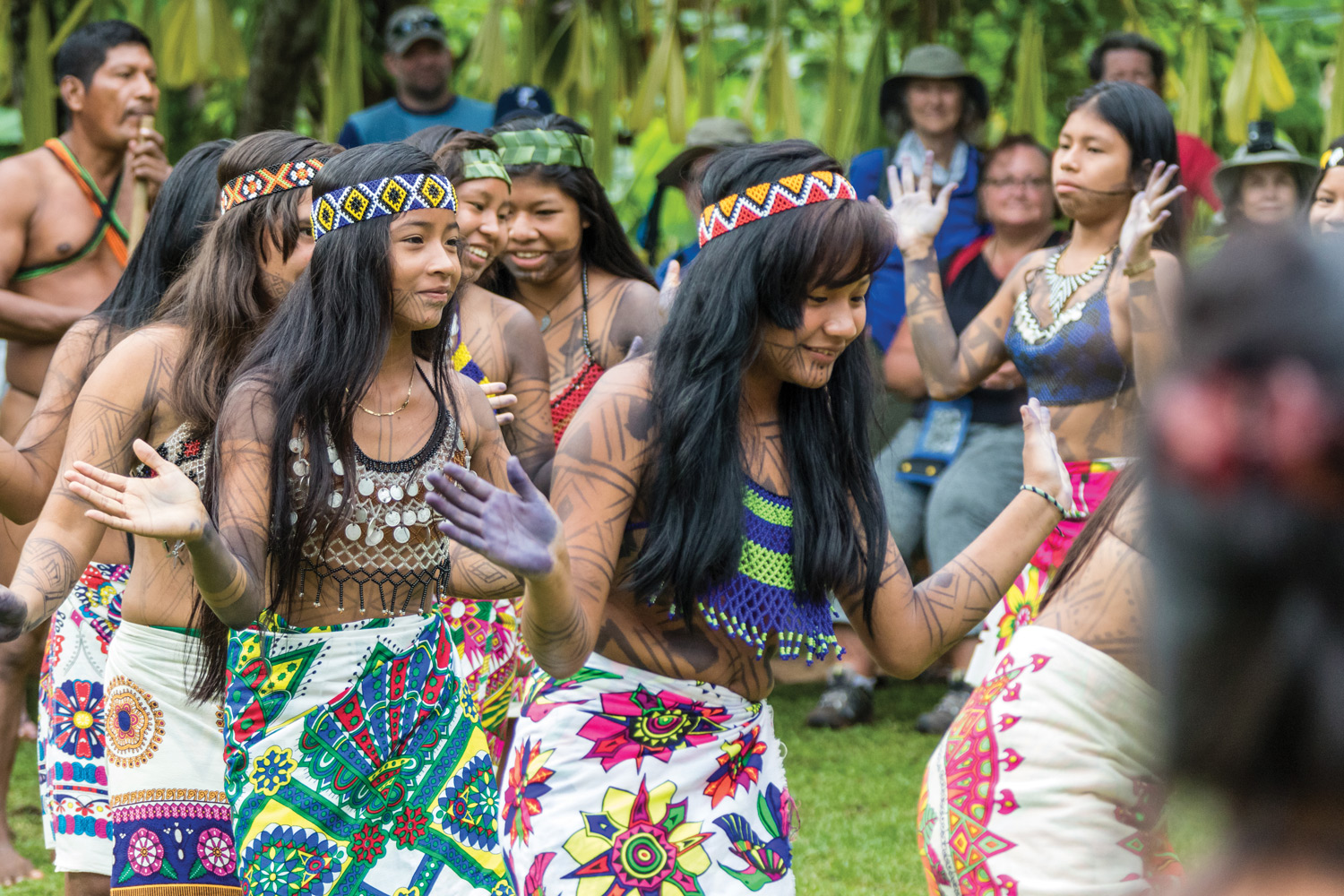 UnCruise's Panama Canal voyage affords the opportunity for travelers to visit with the Embera tribe.