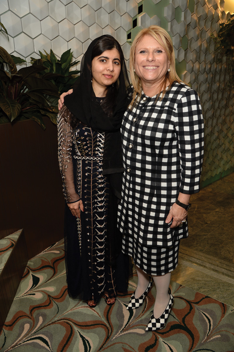 CEO Lisa Lutoff-Perlo with Nobel Peace Prize winner and Celebrity Edge godmother Malala Yousafzai.