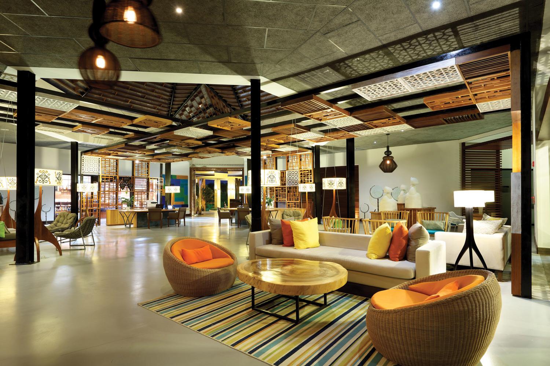TRS Cap Cana Hotel lobby.