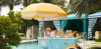 Confidante Miami Beach's new amenity cart.