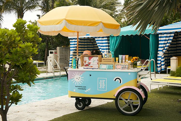 Confidante Miami Beach's new amenity cart.