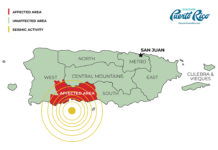 Puerto Rico Earthquake Map