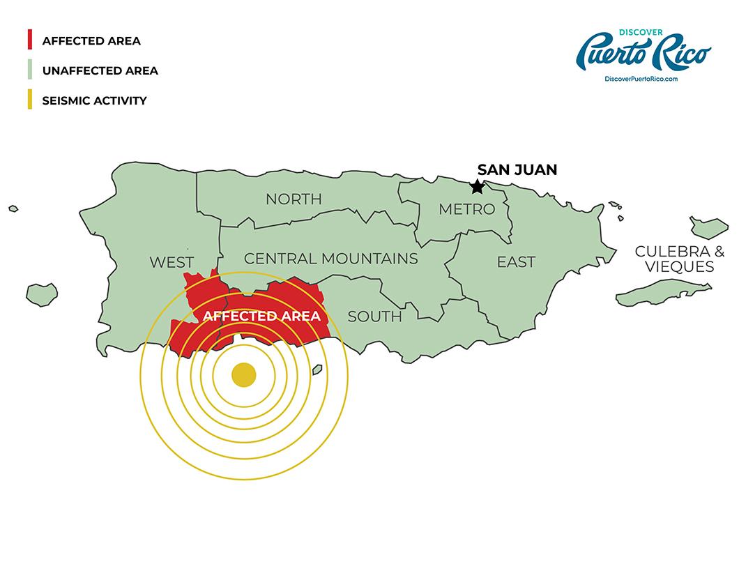Puerto Rico Earthquake Map